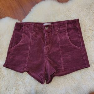 Forever 21 High Waist Cuorduroy Shorts